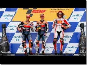 Podium MotoGP-Brno